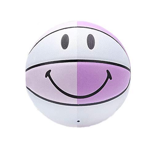 SHENGY Nr. 5 Bunte Basketball, Kinderlächeln Farbwechsel Basketball, geeignet für Anfänger 3-8 Jahre alt, Indoor- und Outdoor-Training, rutschfeste verschleißfeste PU-Basketball
