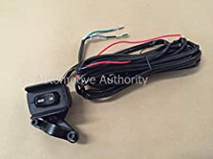 OEM Quality Replacement 12V Winch Rocker Thumb Switch with Handle Bar Mounting Bracket Switch Wire Length: Approximately 10 ft Waterproof/Weatherproof electric switch Works with All Major Winch Brands