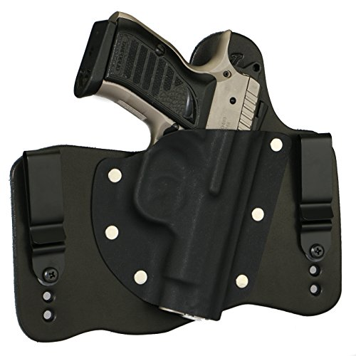 FoxX Holsters EAA Witness Compact with Rail - Poly Model ONLY 9/40/45 in The Waistband Hybrid Holster Tuckable, Concealed Carry Gun Holster (Black)
