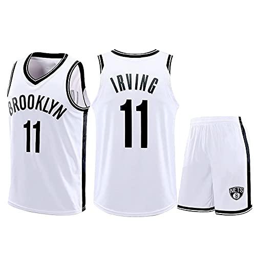 QGF Traje De Camiseta De Baloncesto para Hombre - Brooklyn Nets # 11 Camiseta De Baloncesto Kyrie Irving Camiseta Transpirable + Pantalones Cortos XXXXXL