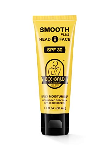 Bee Bald SMOOTH PLUS Daily Moisturizer w/SPF 30 Broad Spectrum Sunscreen Tones, Hydrates & Moisturizes While Protecting Skin From The Sun's Harmful UVA/UVB Rays.