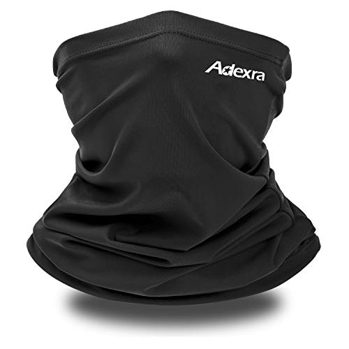 Neck Gaiter Summer Sun UV Protection Neck Face Cover Women Men Cooling Neck Scarf Anti Dust Windproof Bandana for Hiking Cycling Fishing (Black, 1)