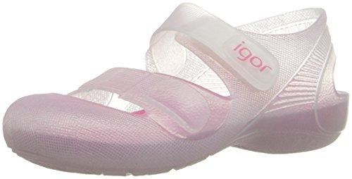 Zapatillas de Agua para Niña con Velcro Modelo Bondi Bicolor, de Igor - Blanco, 28