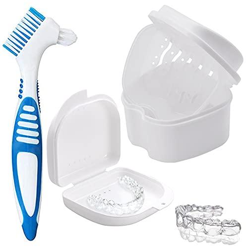 Caja de almacenamiento de dentaduras postizas,soporte de dentaduras postizas,caja de dentaduras postizas...