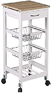 Home Basics Kitchen Trolley (Basket)