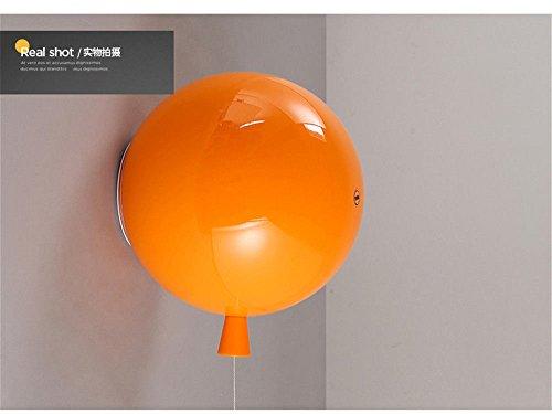 JJZHG wandlamp wandlamp waterdichte wandverlichting warme kinderkamer creatieve slaapkamer lamp persoonlijke restaurant woonkamer lamp ballon wandlamp oranje 25 cm wandlamp