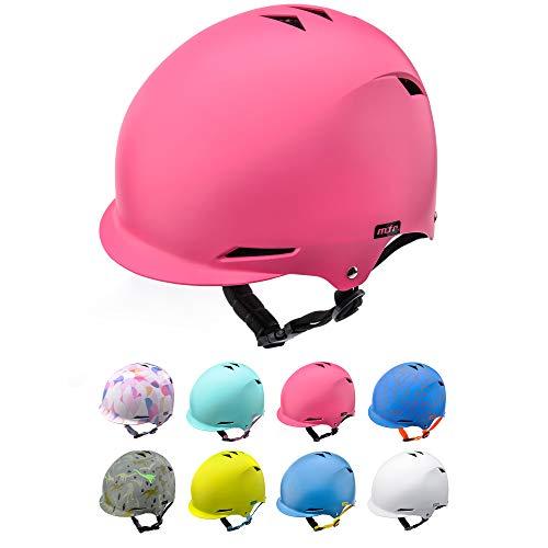 Casco Bicicleta Bebe Helmet Bici Ciclismo para Niño - Cascos para Infantil Bici Helmet para Patinete Ciclismo Montaña BMX Carretera Skate Patines monopatines (M 52-56 cm, Pink)