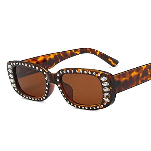 U/N Gafas de Sol de Lujo para Mujer Gafas de Sol cuadradas Vintage para Hombre Espejo Transparente Amarillo Rosa Gafas-4