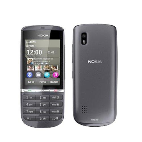 Nokia Asha 300 Gray Touchscreen Unlocked QuadBand 3G Cell Phone