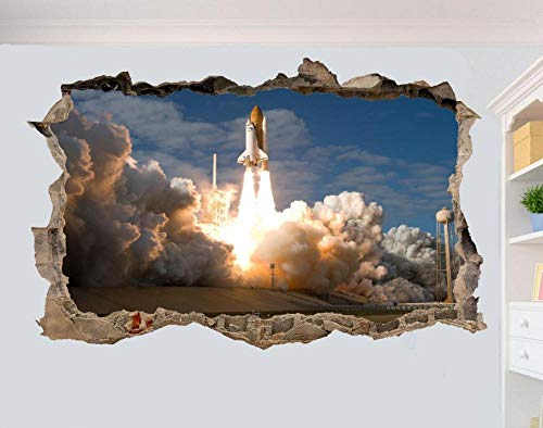 Wandtattoo Launch rocket 3D wall stickers room decoration decal mural