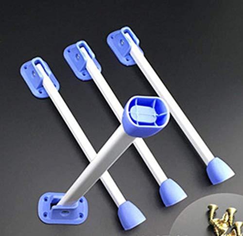 ZXL Meubelpoten Klaptafel Voetbed Notebooktafel Faule Tafelpoten Eenvoudige, kleine, dikke tafelhouder 4-pack, Wit