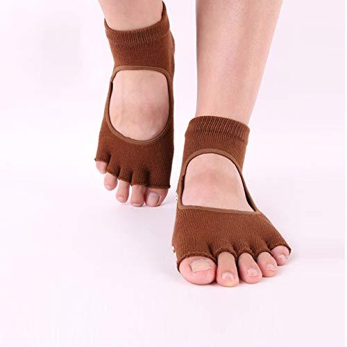 Ashley GAO Dedo del pie Separado calcetines mujer silicona antideslizante dedo del pie calcetines algodón Pilates Profesional Yoga calcetines sin costura