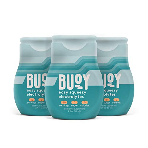 Buoy   All Natural Electrolytes   Keto, Immunity, Exercise   120 Servings   No Sugar, No Calories   Easy Squeezy Drops   Make Any Drink More Hydrating   Coffee, Beer, Wine, Water, Shakes, Tea
