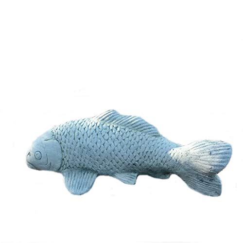 Steinfigur Koi Fisch Steinkoi Deko Garten Tier Tierfigur Gartenfiguren Steinguss W