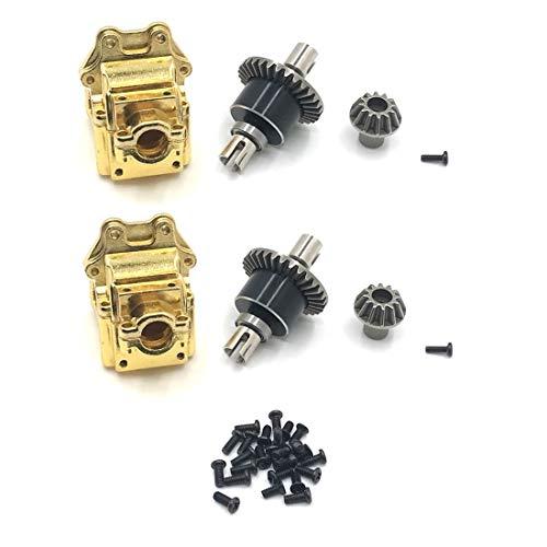 Exanko Caja de Ondas de Caja de Engranajes y Diferencial de Metal Completo para 144001 1/14 Accesorios de Repuestos de Coche RC, 2 Juegos