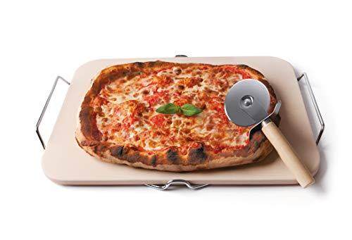Excelsa NonSoloPizza Pietra Refrattaria per Cottura Pizza, Crema