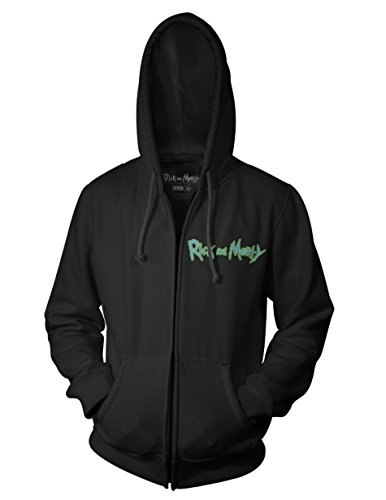 Ripple Junction Rick and Morty Brian Allen Group Illustration 3rd Place Adult Zip Hoodie Medium Black