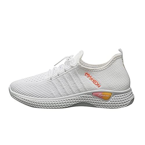 Bambas Mujer Zapatos Deporte Mujer Zapatos de Malla Transpirables y Ligeros Zapatillas Deportivas Correr Gimnasio Tennis Mujer