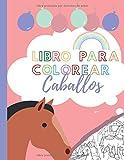 libro para colorear caballos: 15 caballos para colorear y recortar I Folleto de coloración para niños y niñas