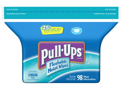 Pull-Ups Flushable Moist Wipes Refill, 98-Count (Pack of 8)