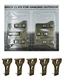 Brick Clips - Bricks Clip for Hanging Outdoors Wall Pictures, Metal Brick Hangers Fastener...