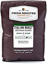 Fresh Roasted Coffee, Italian Roast, Dark, Kosher, Whole Bean, 5 Pound