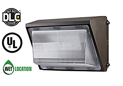 TriGlow LED Wall Pack, 100-277V, 5000K (Daylight White), UL DLC