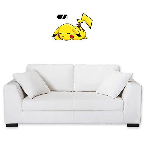 Okiwoki Sticker Mural Pokémon parodique Pikachu : Batterie à Plat ! (Parodie Pokémon)