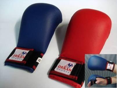 Orkansports [Orkan] Karate Handschutz Iadro Kimite rot (M)