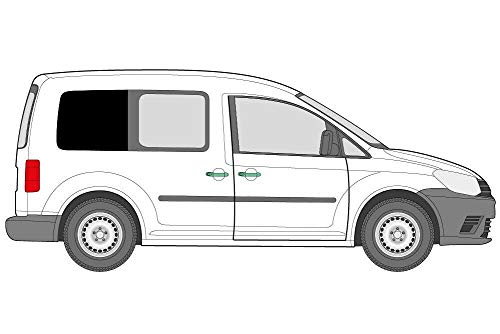 Net Kampers Rechts Achterkant Raam Verduisterend Gordijn Rail Kit Compatibel VW Caddy SWB