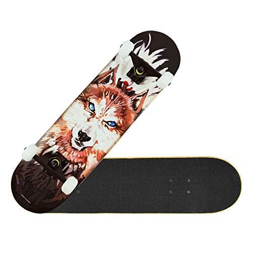 Professionelles Skateboarding, Street Skateboarding für Junge Erwachsene, Maple Double Rocker, Custom Skateboard...
