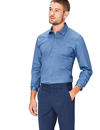find. Fnd0022am Camicia, Blu (New Airforce), 41 Collo