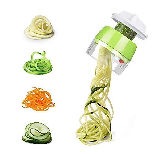 Carry360 Handheld Vegetable Spiralizer, Spiralizer Vegetable Slicer - Veggie Spiral Slicer Cutter for Noodle Maker Pasta Zucchini Spiral Maker