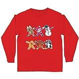 lepni.me Enfants garçons/Filles T-Shirt Christmas Dab - Dabbing Bonhomme de Neige du père Noël (14-15 Years Rouge Multicolore)