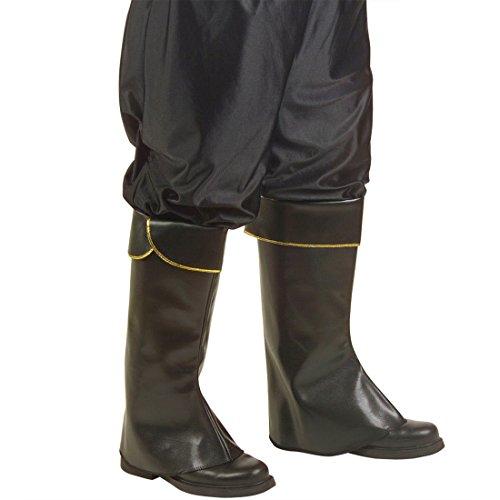 Piraten Stiefelüberzieher braun Stiefel Stulpen Lederoptik Reiter Stiefelstulpen Schuh Lederstulpen Mittelalter Schuhstulpen Seeräuber Piratenschuhe Damen Leder Gamaschen Ritter Kostüm Zubehör