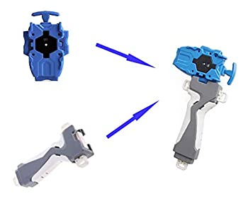 Toys Launcher and Grip Gyro Right Burst Starter String Launcher Spinning Top Toys Accessories for Children Blue