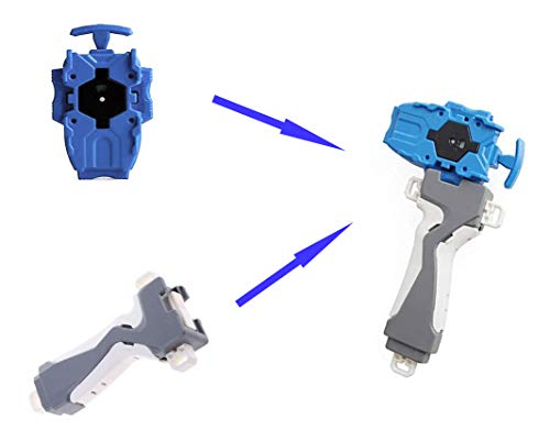 WADE Beyblades Toys Launcher and Grip, Gyro Right Burst Starter String Launcher, Spinning Top Toys Accessories for Children(Blue)