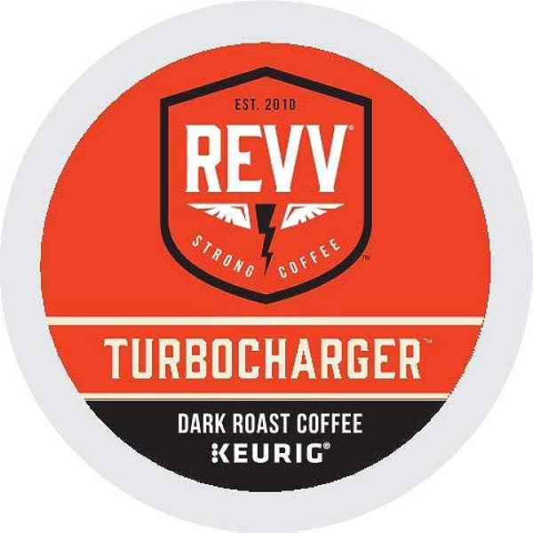 Revv Turbocharger Single Serve Coffee K Cup Pods For Keurig Brewers Dark Roast 96Count