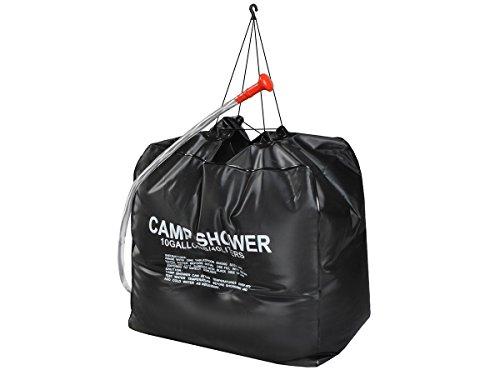 ISO TRADE Solardusche Campingdusche 40L Shower Outdoordusche schwarz solar 3410