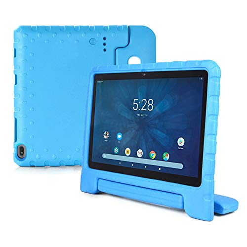Bolete Walmart Onn 10.1 Tablet Case 2019 Release, Kids Friendly Light Weight Shockproof Durable Protective with Handle Stand Case for Onn 10.1 Android Tablet Model ONA19TB003 - Blue
