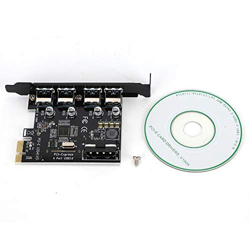Tarjeta de expansión, Tarjeta de expansión PCI-E a USB3.0 de Baja Resistencia Negra de Alta Potencia, 5 Gbps antiinterferencia para computadora de Escritorio