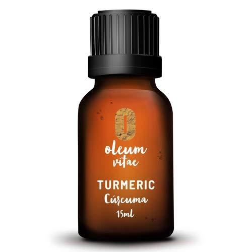 Aceite Esencial de Cúrcuma (Curcuma Longa) 100% Puro y Orgánico. 15 ml. Hecho en India. Certificado USDA ORGANIC. Marca OLEUM VITAE