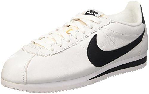 Nike Herren Classic Cortez Prem Laufschuhe, Weiß/Schwarz, 37 1/2 EU