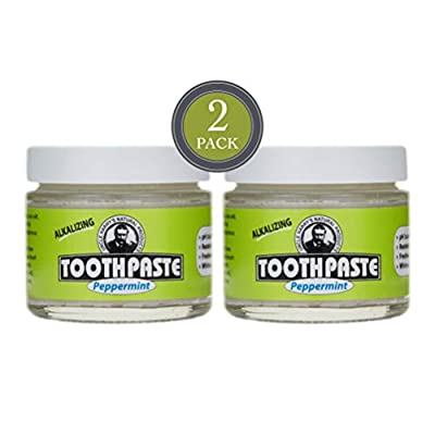 Uncle Harry's Peppermint Remineralizing Toothpaste Organic | Natural Whitening Toothpaste Freshens Breath & Promotes Enamel | Vegan Fluoride Free Toothpaste (2 pack)