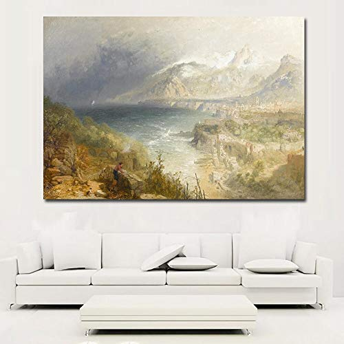 KWzEQ Leinwanddrucke Russische Landschaftswandplakate und Hausdekoration für Wohnzimmer50x75cmRahmenlose Malerei