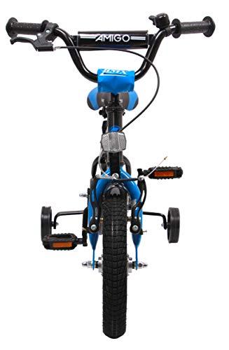 amiGO {KINDERFAHRRAD 12 Zoll} | Fahrrad Kinder 3 Jahre | Kinder fahrad | kinderfahrrad 12 Zoll Jungen | Fahrrad mit stützrädern ab 3 Jahren | Schwarz/Blau - 3