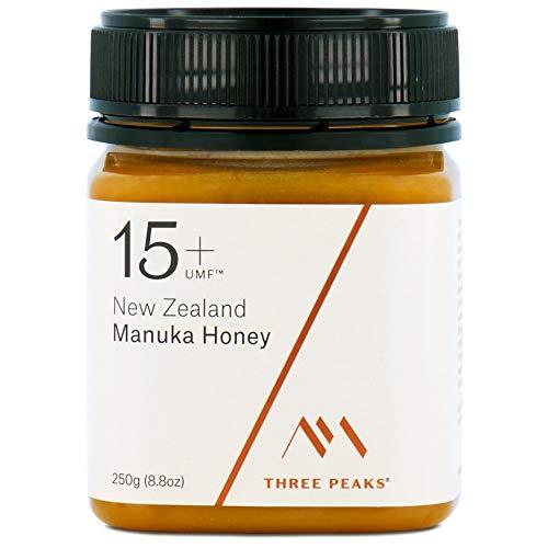 Three Peaks Manuka Honey New Zealand - Certified UMF 15+ - MGO 514+ - 8.82 oz (250gm) - 100% Natural honey, Raw honey – Ultra Premium, Healing Manuka honey