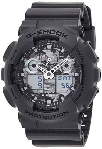 Casio Herren-Armbanduhr XL G-Shock Analog - Digital Quarz Resin GA-100CF-8AER