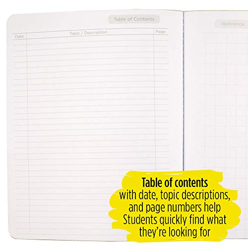 """Five Star Interactive Notetaking Composition Books, 1 Subject, College Ruled Composition Notebooks, 100 Sheets, 11"""" x 8-1/2"""", 3 Pack (38611) Photo #2"""