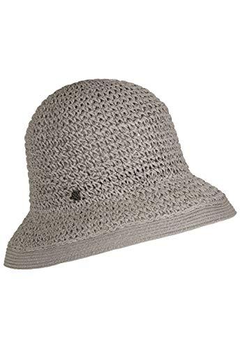 LOEVENICH Damen Häkelglocke, sommerlicher Hut, Farbe: Grey